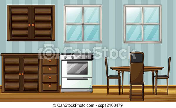 A furniture in a room - csp12108479