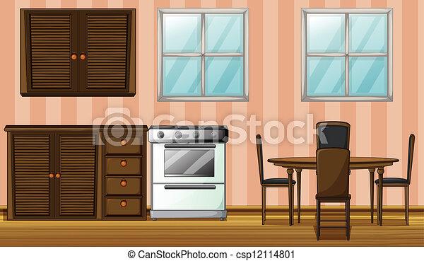 A furniture in a room - csp12114801