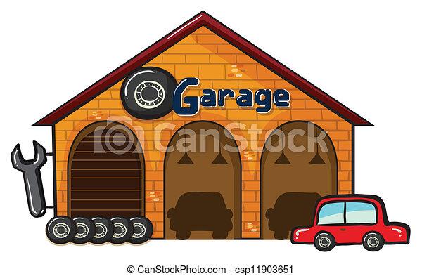 a garage - csp11903651