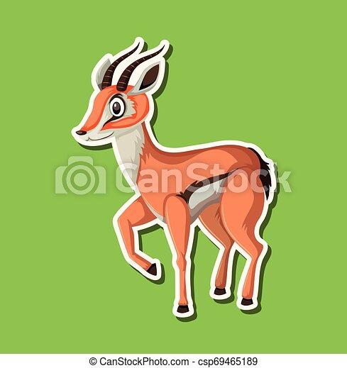 A gazelle sticker character - csp69465189