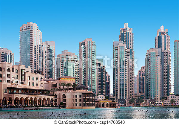 A general view of a residential area of Dubai, UAE - csp14708540