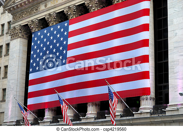 A giant American flag - csp4219560