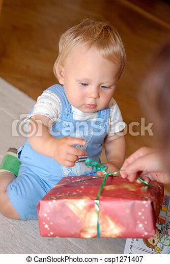 A gift for the first birthday - csp1271407