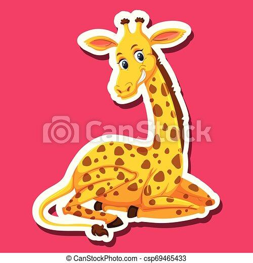 A giraffe character sticker - csp69465433
