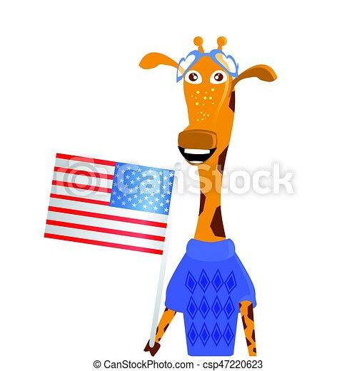 A giraffe girl - csp47220623