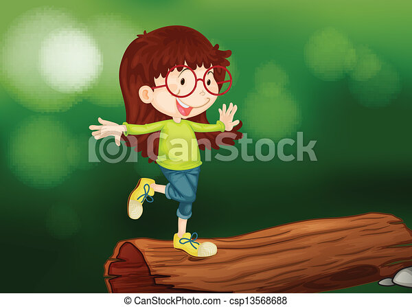 A girl above the wood - csp13568688