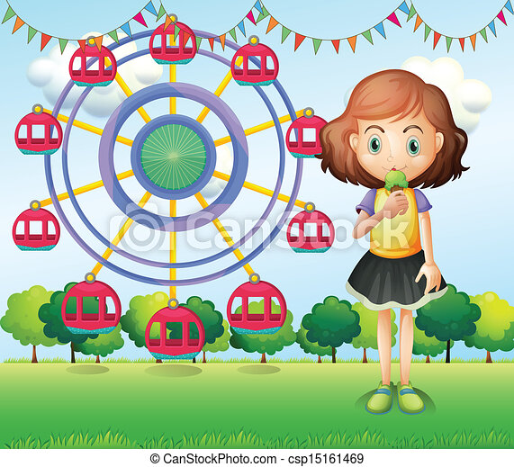A girl at the carnival - csp15161469
