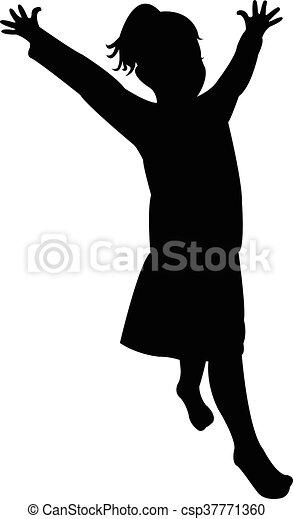 a girl body silhouette - csp37771360