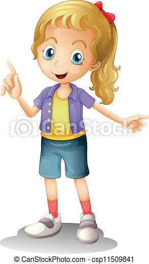 a girl - csp11509841
