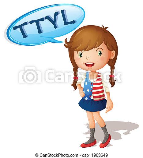 a girl - csp11903649