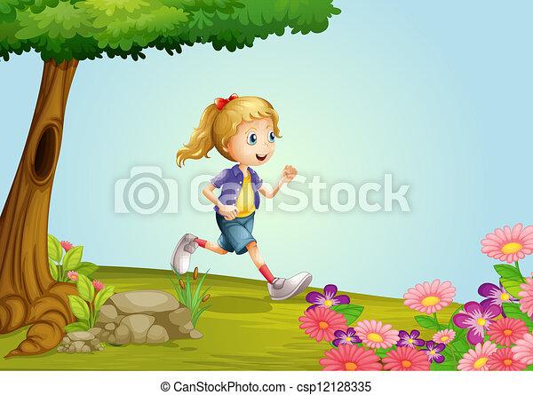 A girl - csp12128335