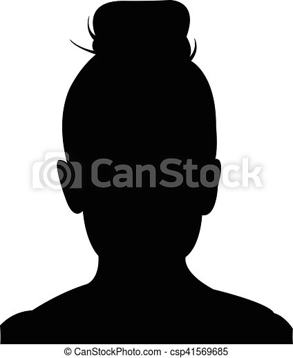 a girl head silhouette rh canstockphoto com mickey mouse head silhouette vector horse head silhouette vector