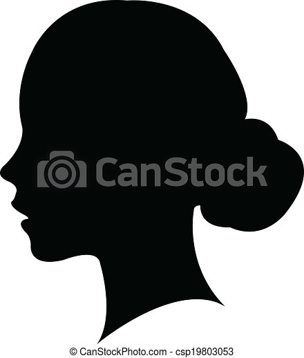 a girl head silhouette vector rh canstockphoto com woman head silhouette vector woman head silhouette vector