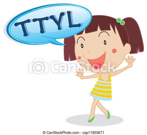 a girl - csp11903671