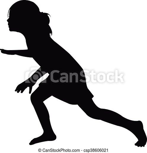 a girl, silhouette - csp38606021