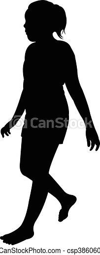 a girl, silhouette - csp38606008