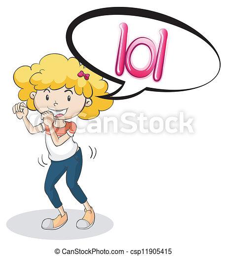 a girl  - csp11905415