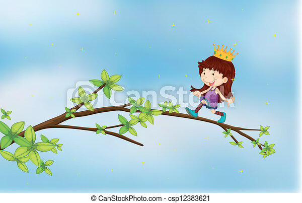 A girl wearing a crown - csp12383621