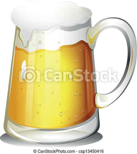 A glass of cold alcoholic drink - csp13450416