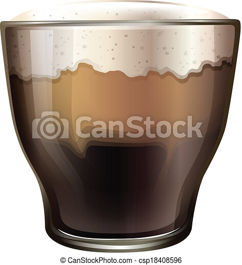 A glass of cold coffee - csp18408596