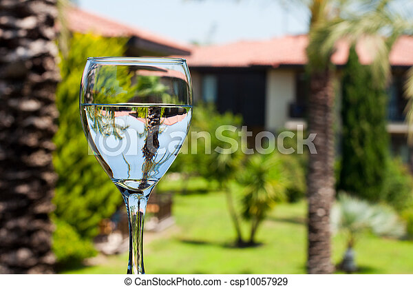A glass of drinking water - csp10057929