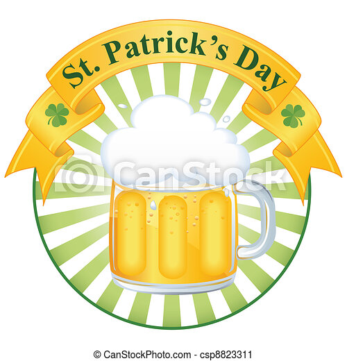 A glass of fine beer for St. Patrick's day - csp8823311
