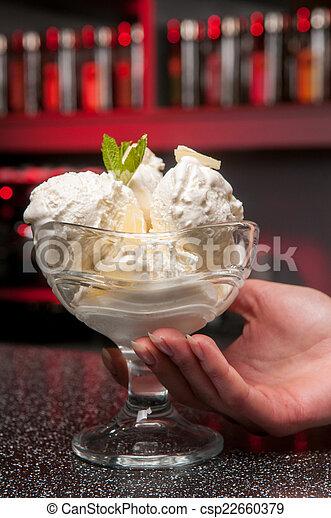 a glass of ice-cream - csp22660379