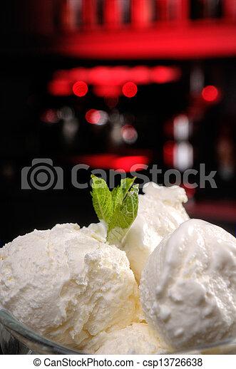 a glass of ice-cream - csp13726638