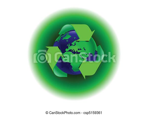 A global warming illustration - csp5159361