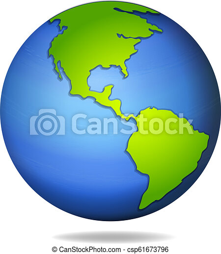 A globe on white background - csp61673796
