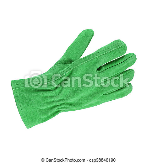 a glove isolated on white background - csp38846190