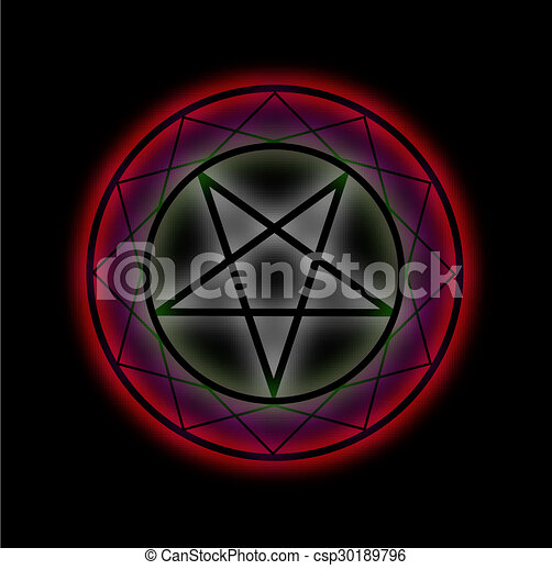 A Glowing Pentagram