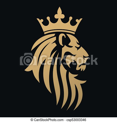A Golden Lion With Crown Emblem For Luxury Brand Or Business Company Symbol Of Royalty