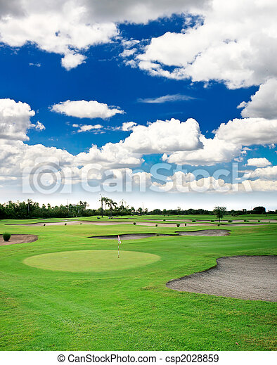 A golf course resort - csp2028859