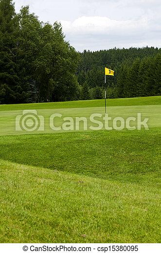 A golf course. - csp15380095