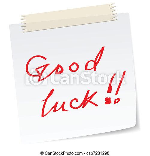 a good luck note - csp7231298