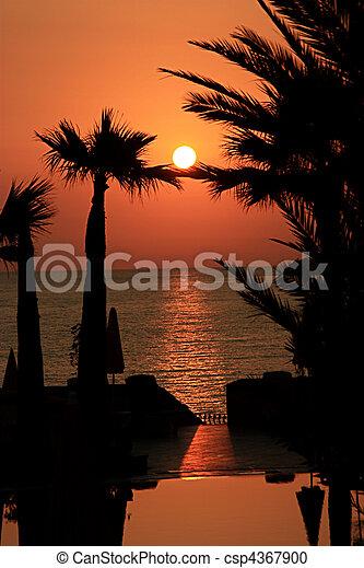 a gorgeous sunset - csp4367900