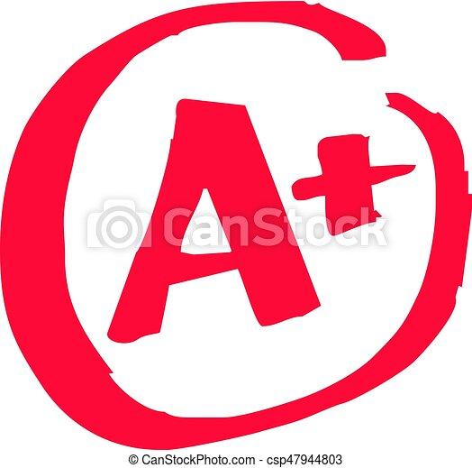 A+ Grade Exam - csp47944803