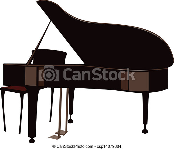 A grand piano vector - Search Clip Art, Illustration, Drawings and ...