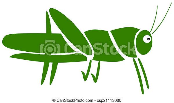 a grasshopper pictogram - csp21113080