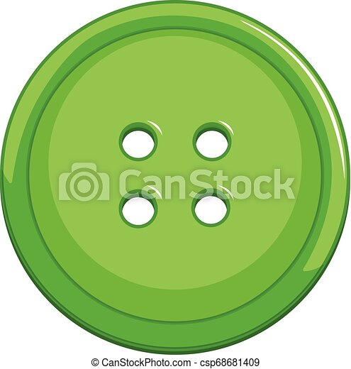 A green button on white background - csp68681409