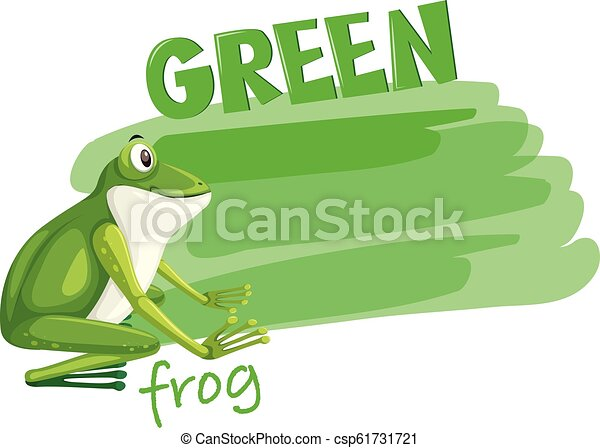 A green frog template - csp61731721