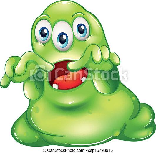 A green monster in horror - csp15798916