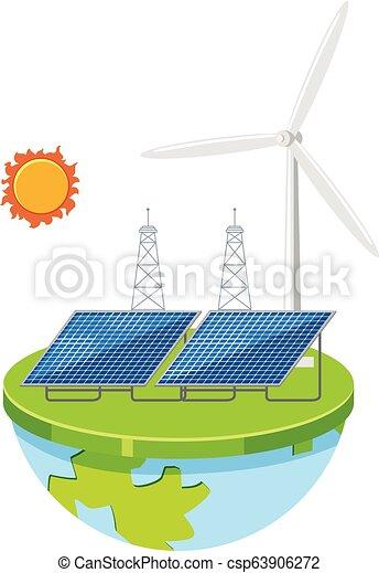 A green power energy - csp63906272