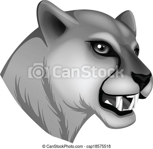 A grey panther - csp18575518