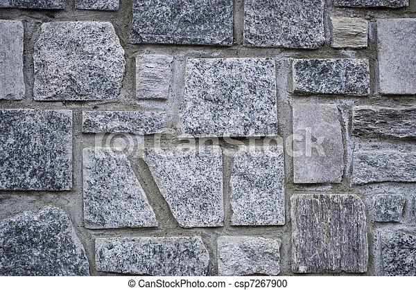 A grey stone wall. - csp7267900