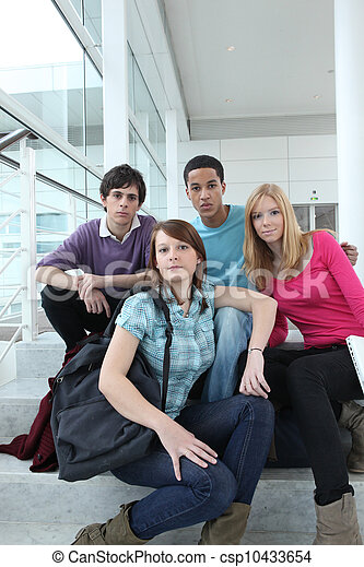 A group of high school students - csp10433654