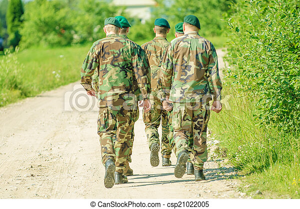 A group of man in military uniform - csp21022005