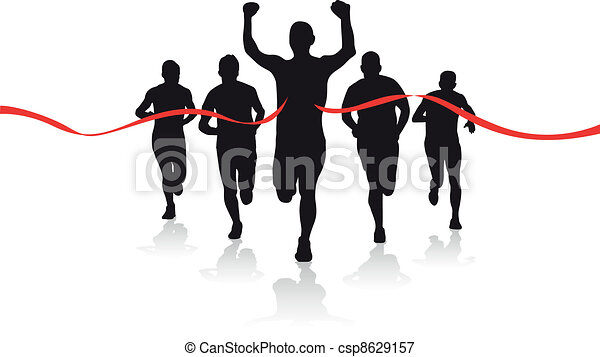 a group of runners - csp8629157
