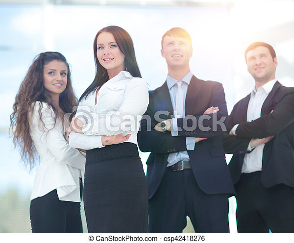 A group of successful business people - csp42418276